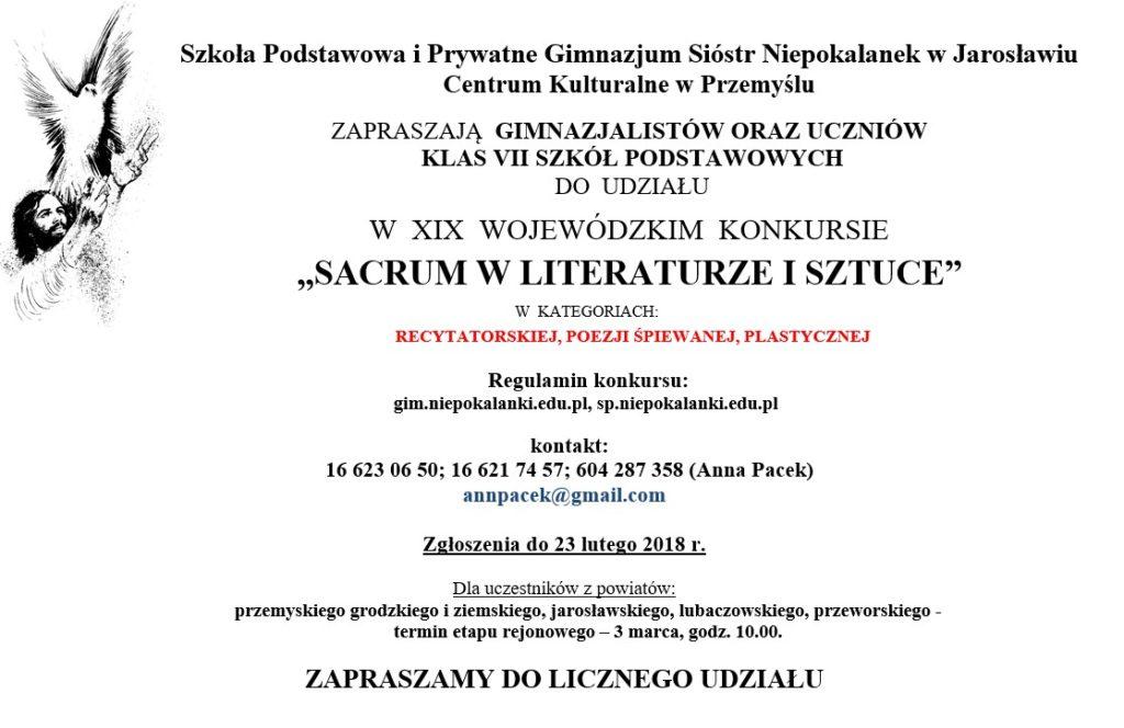 zaproszenie sacrum 2017